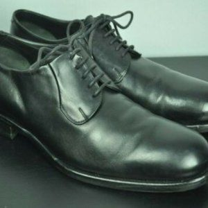 Giorgio ARMANI Black Leather Oxfords 10 1/2